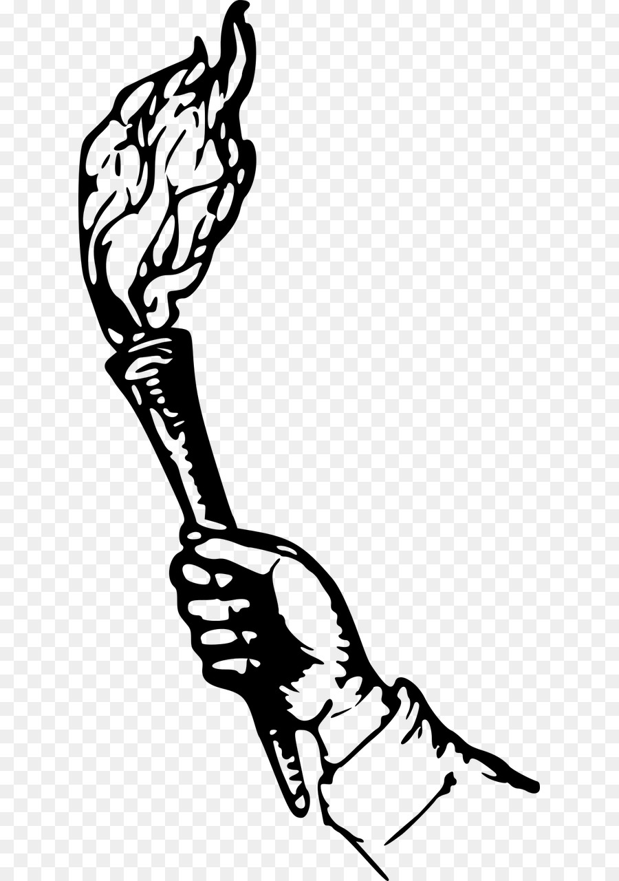 Fire silhouette transparent . Torch clipart hand holding torch