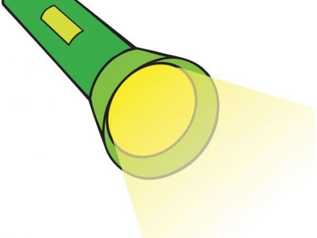 Flashlight clipart miniature. Free download clip art