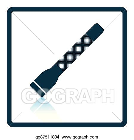 Flashlight clipart police tool. Vector art icon drawing
