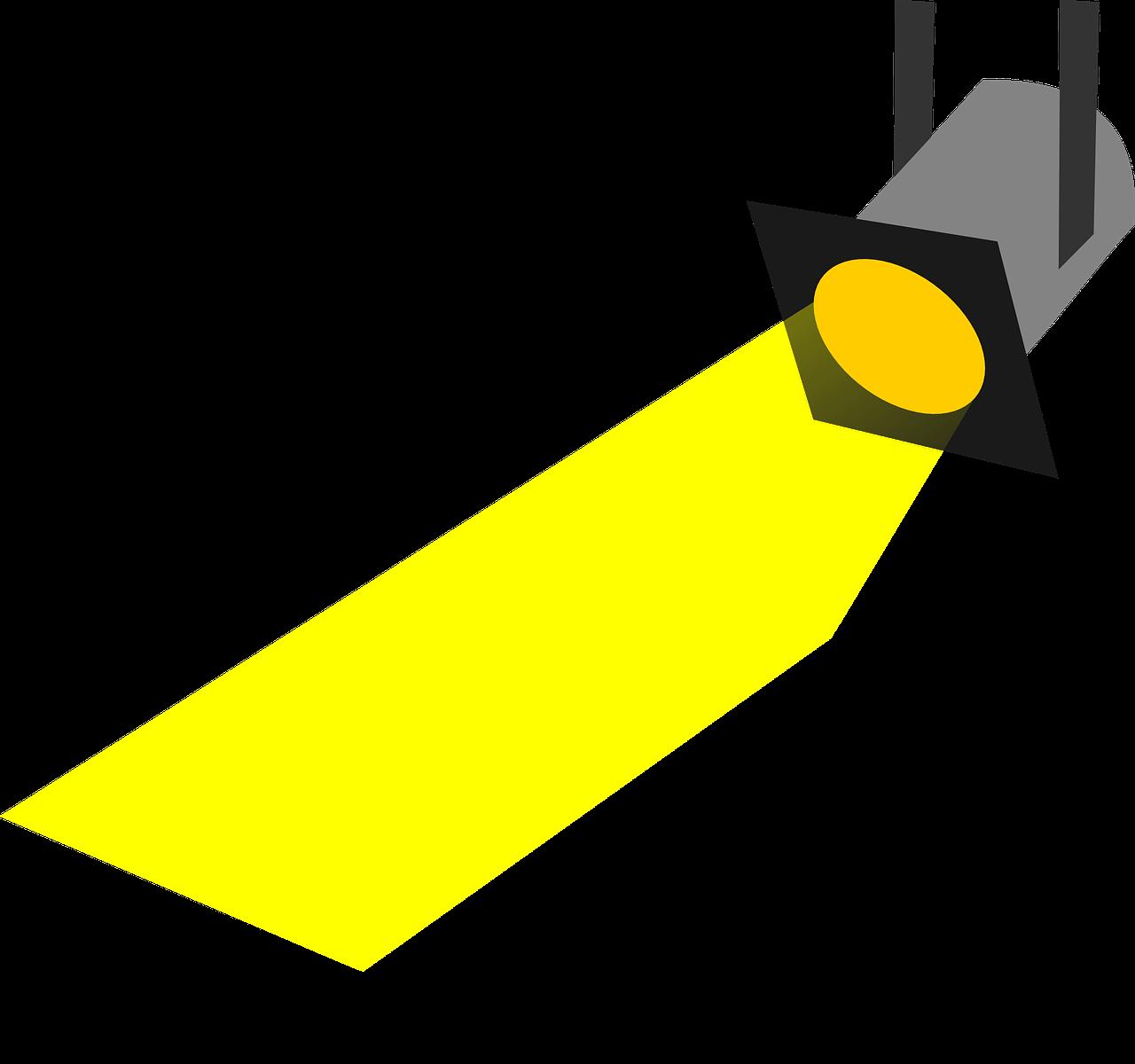 beauty spot light. Flashlight clipart spotlight