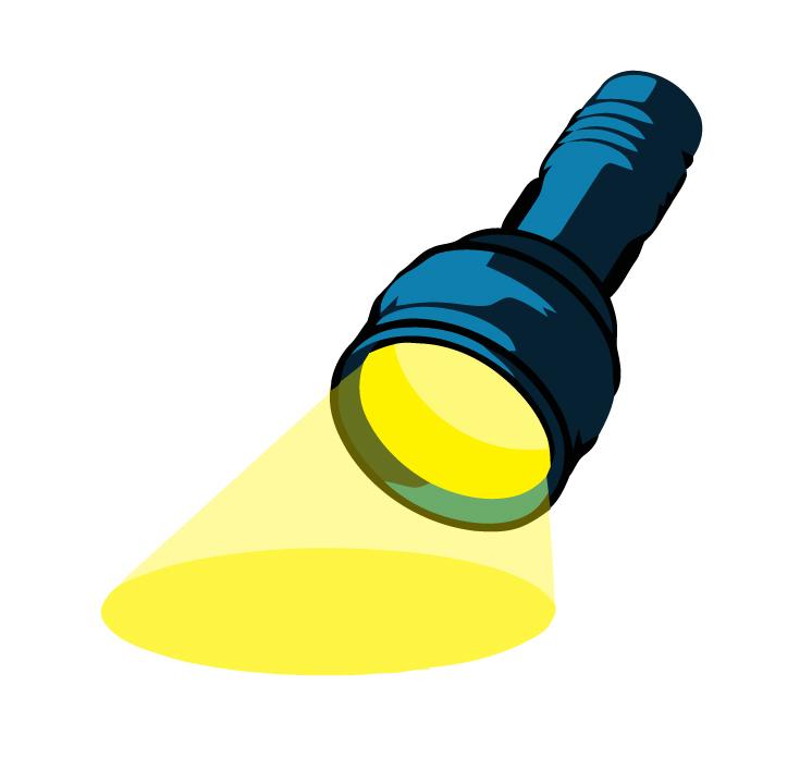 Free mini flashlight cliparts. Torch clipart source light