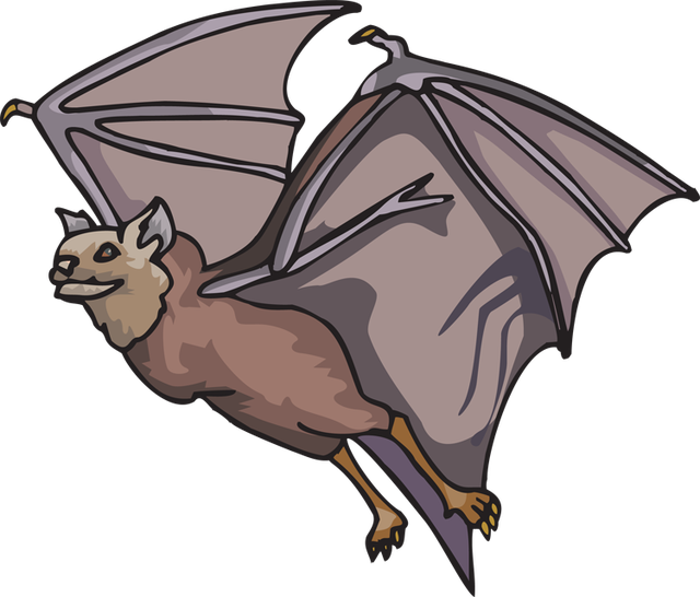 Flying clipart cartoon. Bat air animal free