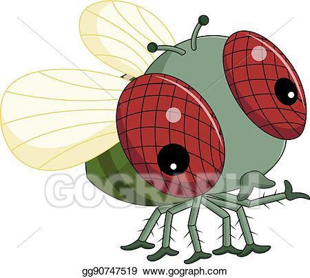 Vector illustration cartoon eps. Flies clipart nuisance