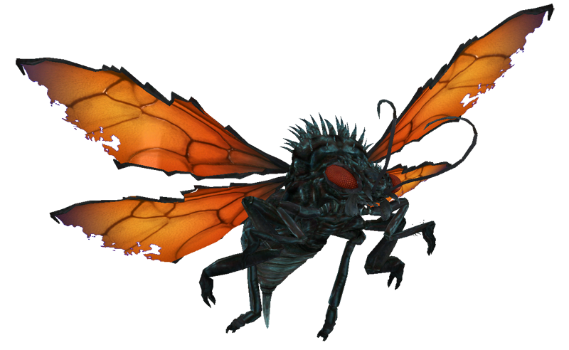flies clipart scared
