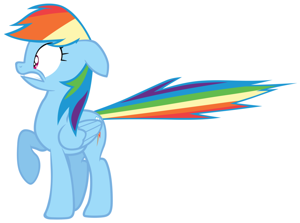 Rainbow dash by tardifice. Flies clipart scared