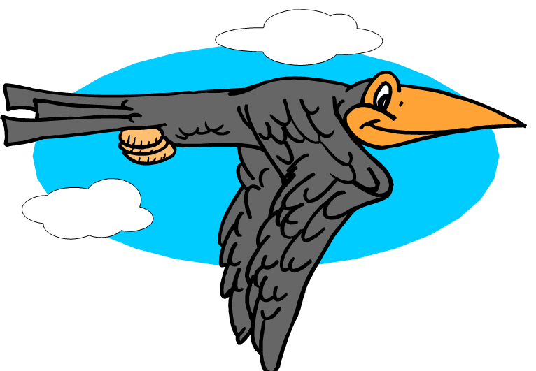 Flies clipart two. As the crow