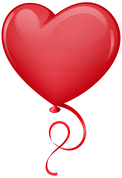 Floating hearts png. Red heart balloon clip
