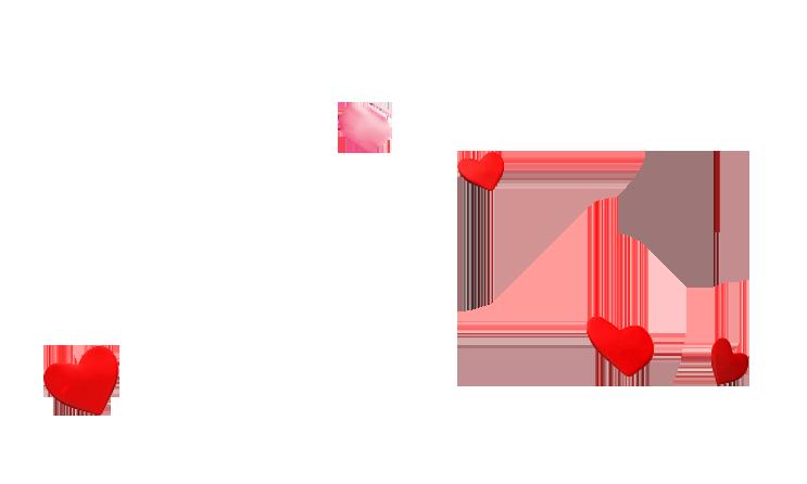 Petal love pattern beautiful. Floating hearts png