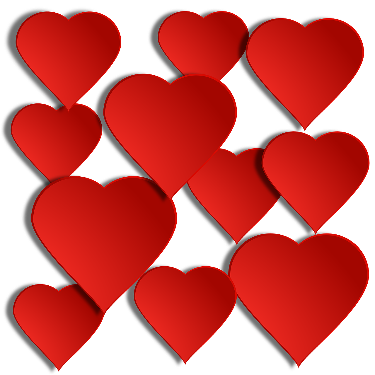 Holiday valentines valentine many. Floating hearts png