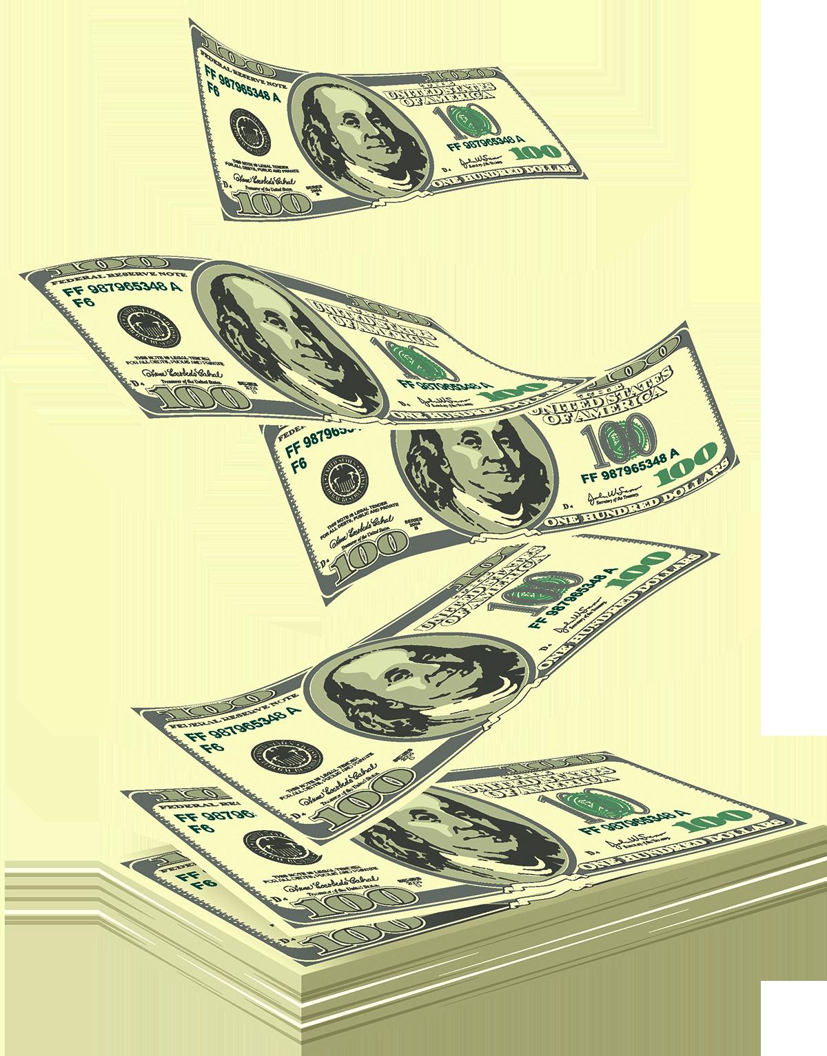Floating money png. United states dollar royalty