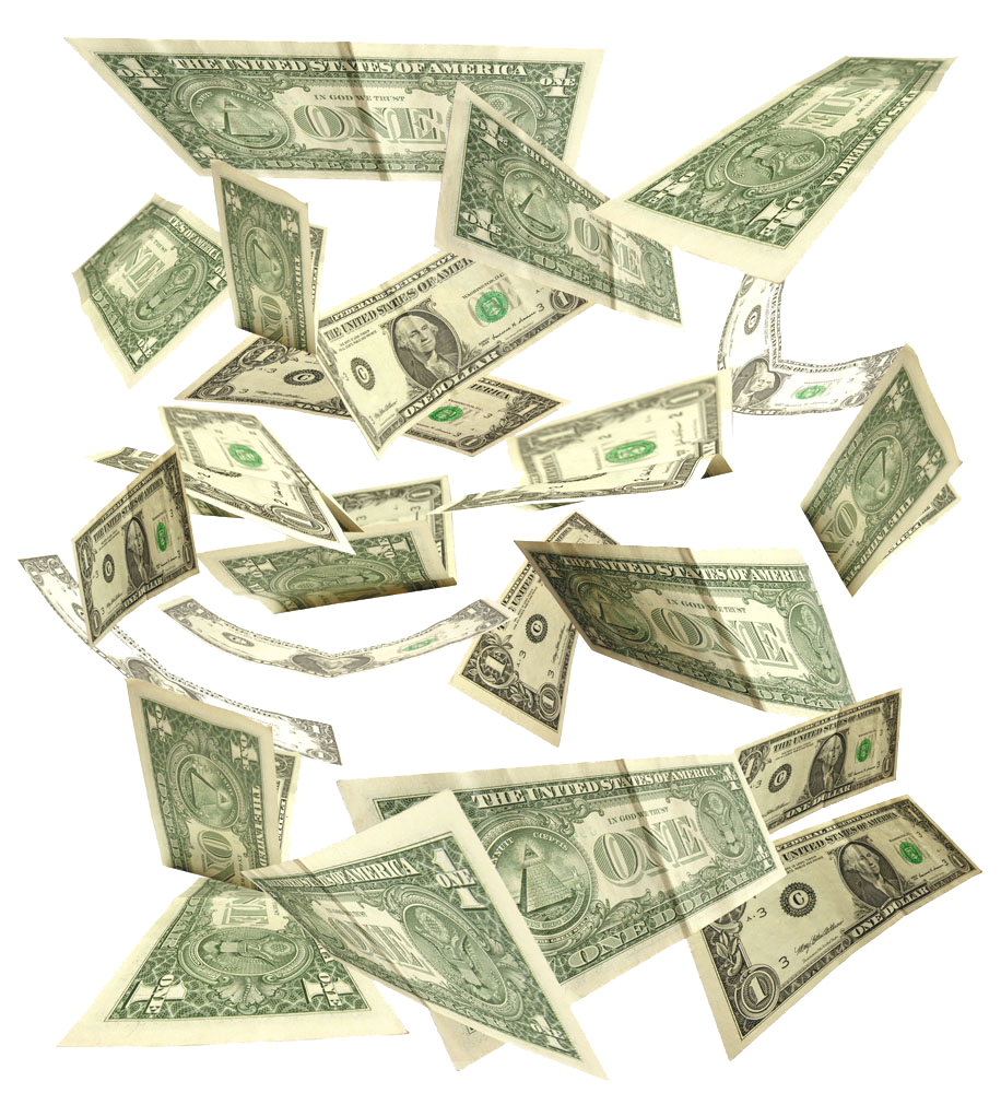 Floating money png. United states dollar banknote