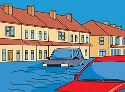 Flood clipart. Free flooded city street