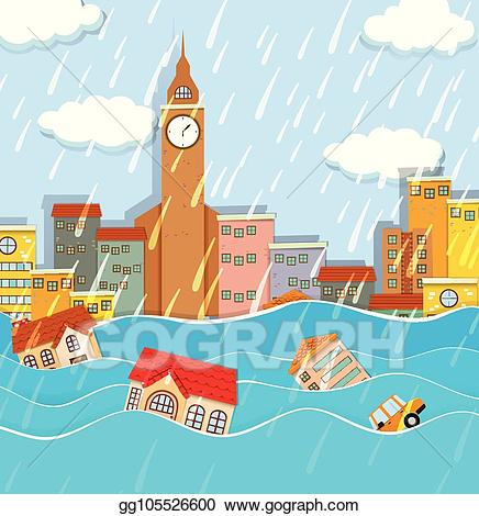 Vector stock a in. Flood clipart big