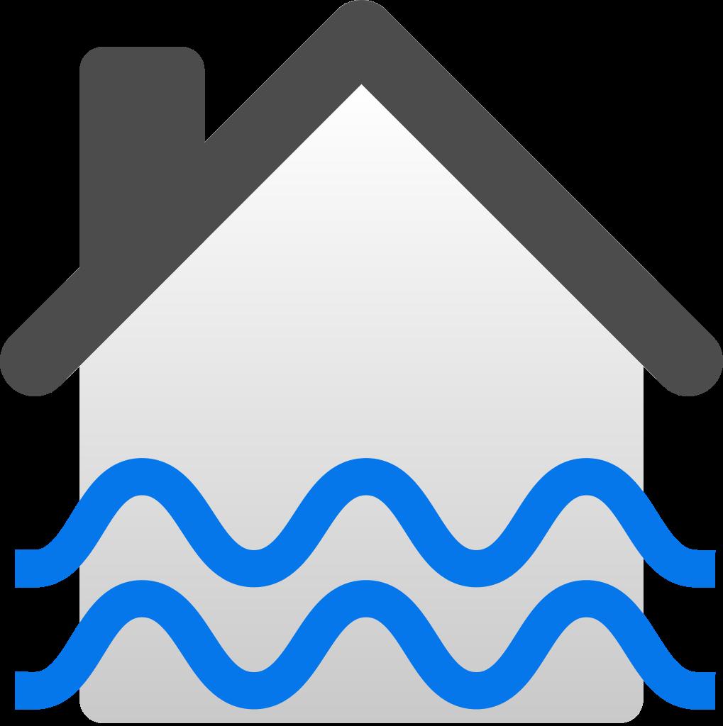 File flooded house icon. Flood clipart effect flood