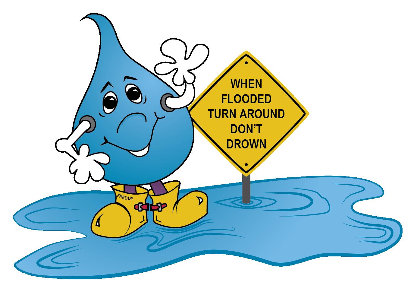 Flood clipart flash flood. Tadd sign program turn