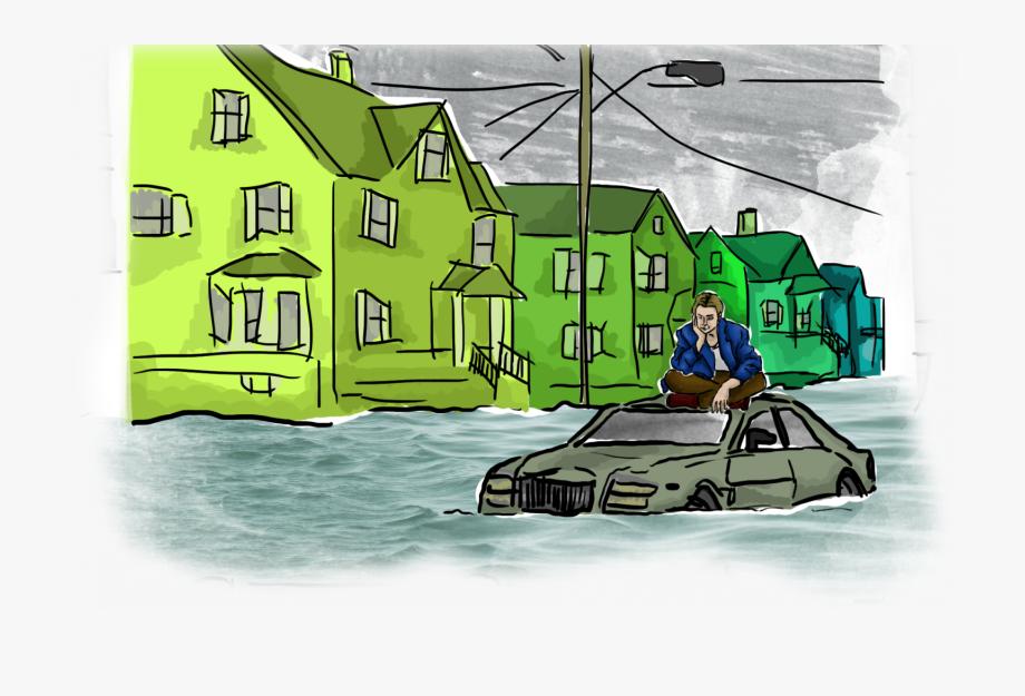 Flood clipart flood chennai. Flooded city illustration free