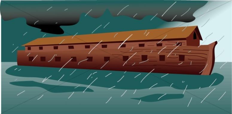 Noahs ark during the. Flood clipart flood noah