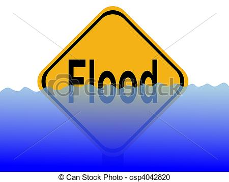 With water panda free. Flood clipart flood sign