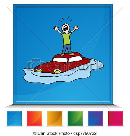 clip art clipartlook. Flood clipart flooded car