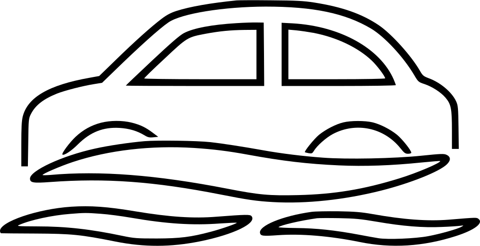 Flood clipart flooded car. Svg png icon free