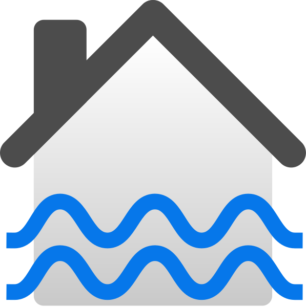 File flooded house icon. Flood clipart flooding
