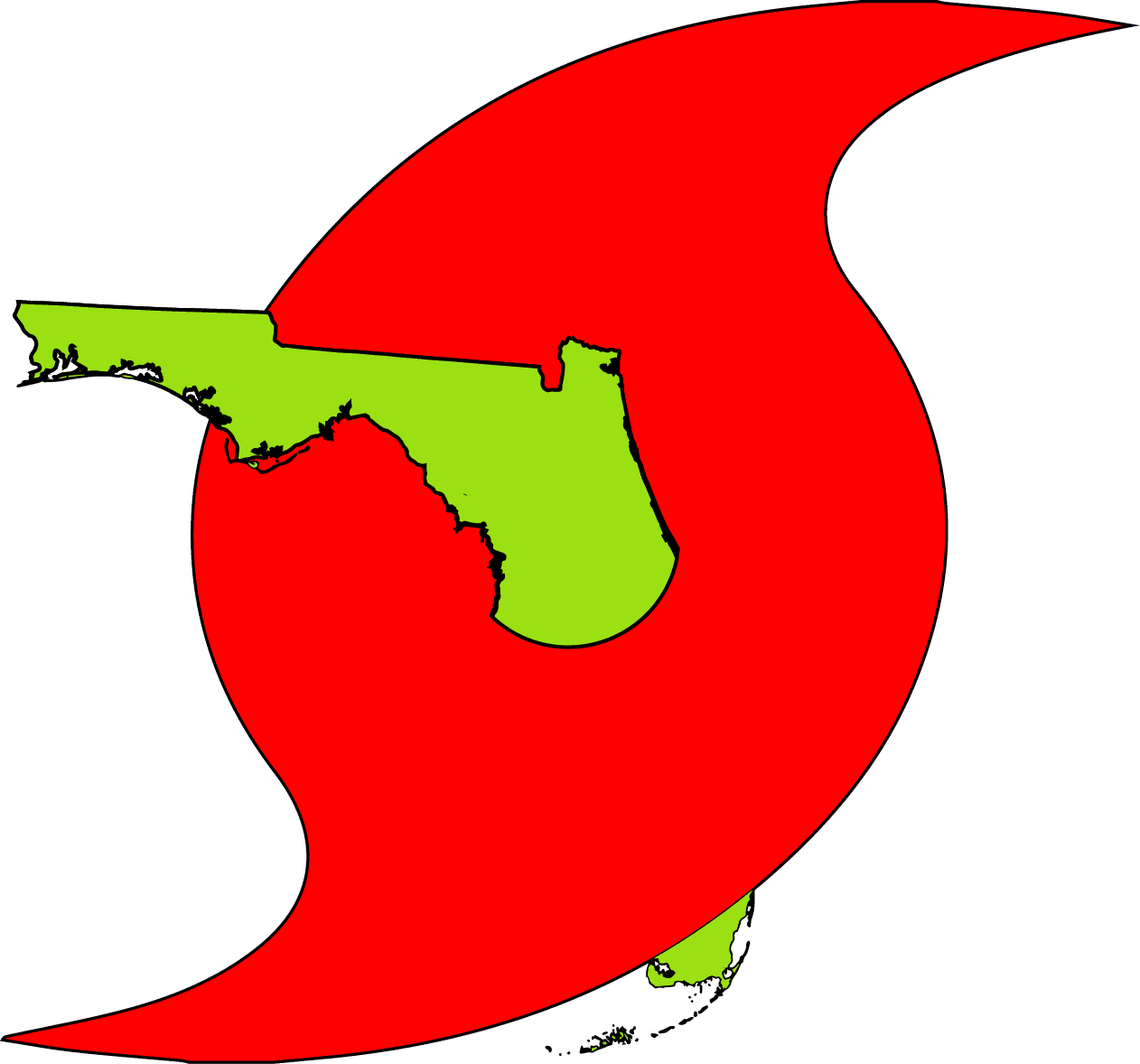 Hurricane clipart hurricane damage.  awareness symbol with