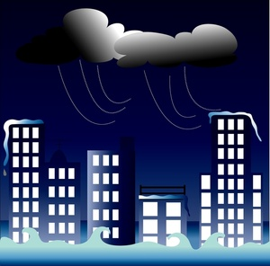 Image clouds and flooding. Flood clipart storm