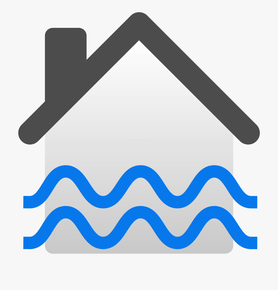 Flooded house icon png. Flood clipart transparent