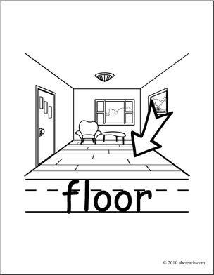 Clip art basic words. Floor clipart