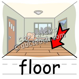 Clip art basic words. Floor clipart