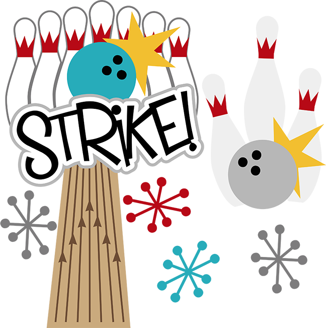 collection of border. Bowling clipart family bowling