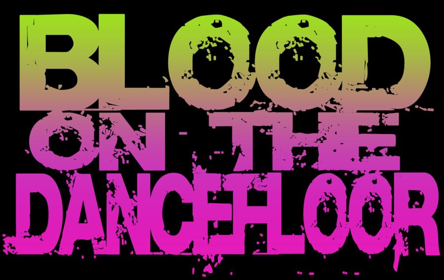Blood on the logo. Floor clipart dance floor