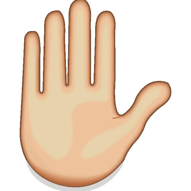 Download Raised Hand Emoji