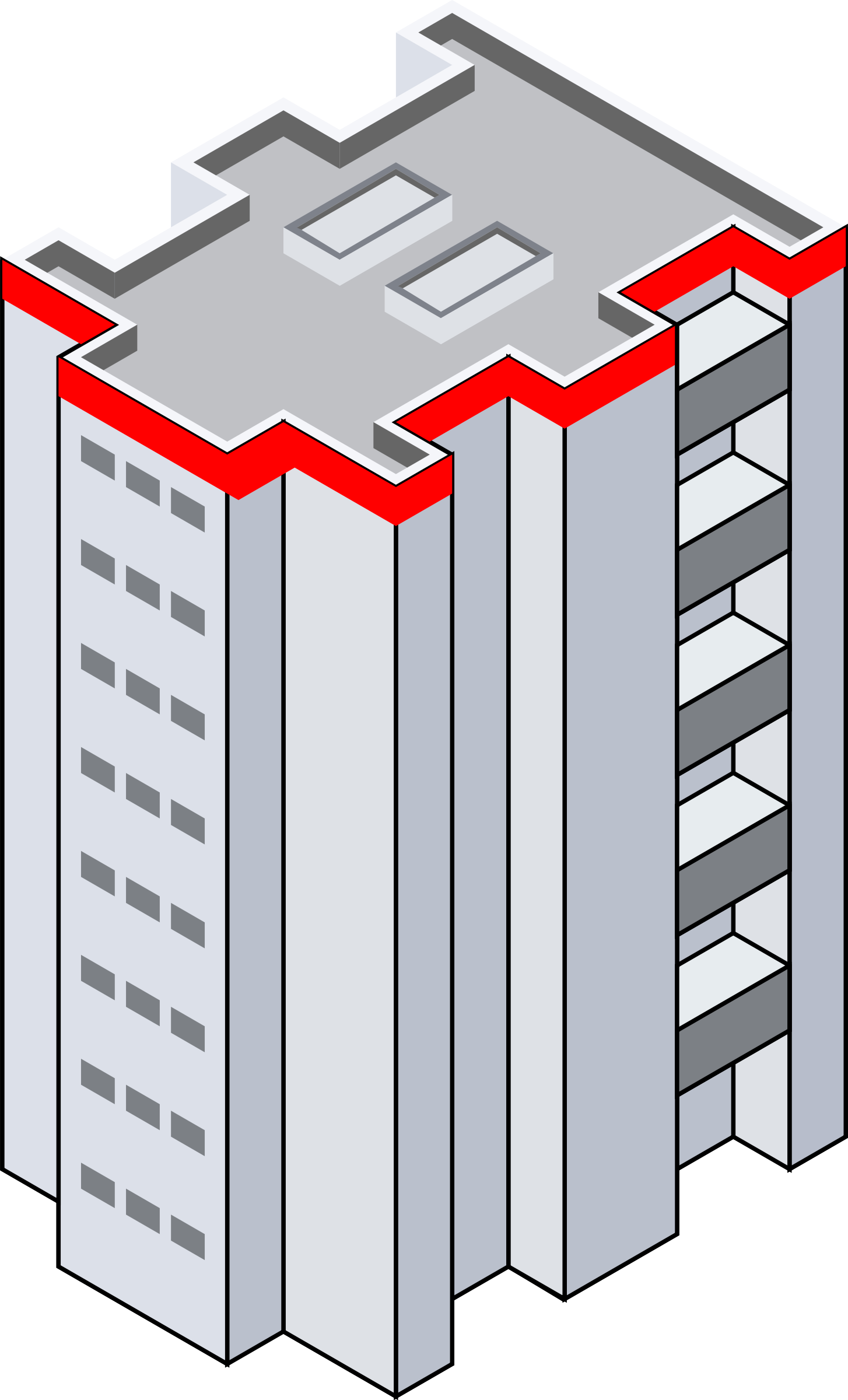 d building icons. Floor clipart isometric