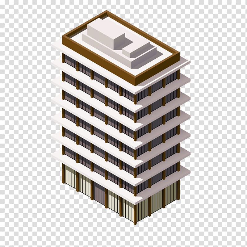 Building projection illustration appearance. Floor clipart isometric