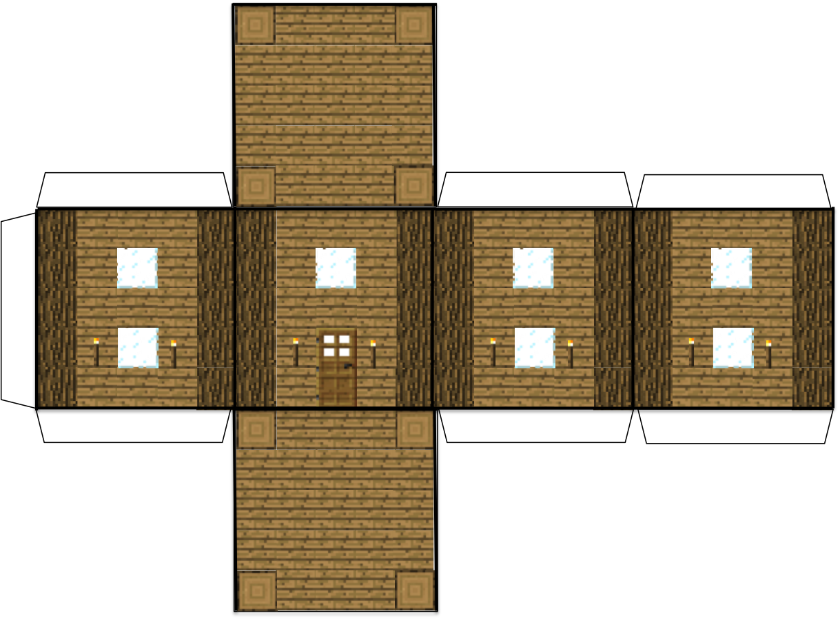 Free paper templates to. Floor clipart minecraft house