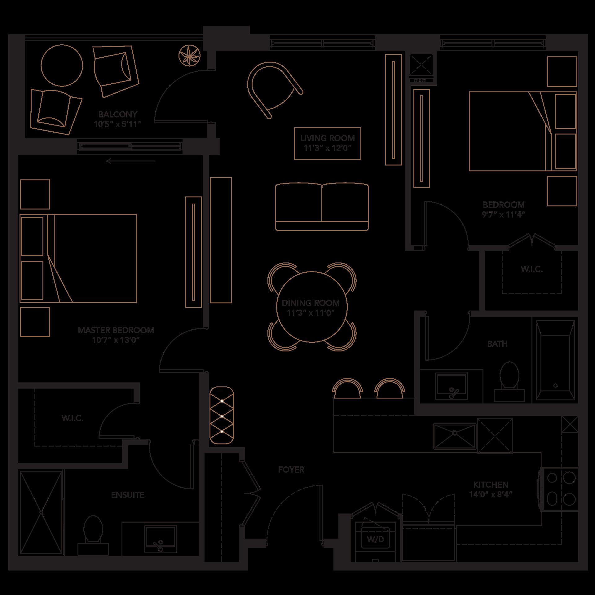 Plans monaco bedroom bathroom. Furniture clipart floor plan