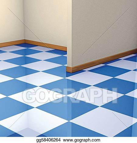 Corner and tiles stock. Floor clipart tile