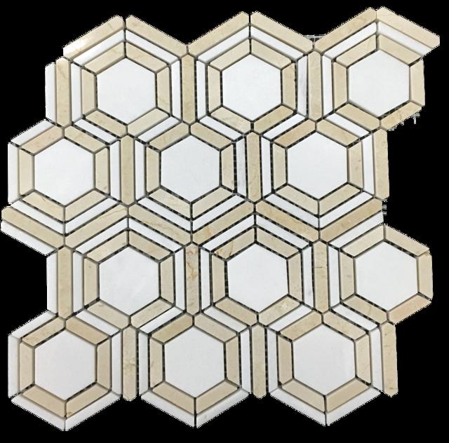 Kaleidoscope white thassos with. Floor clipart tile design