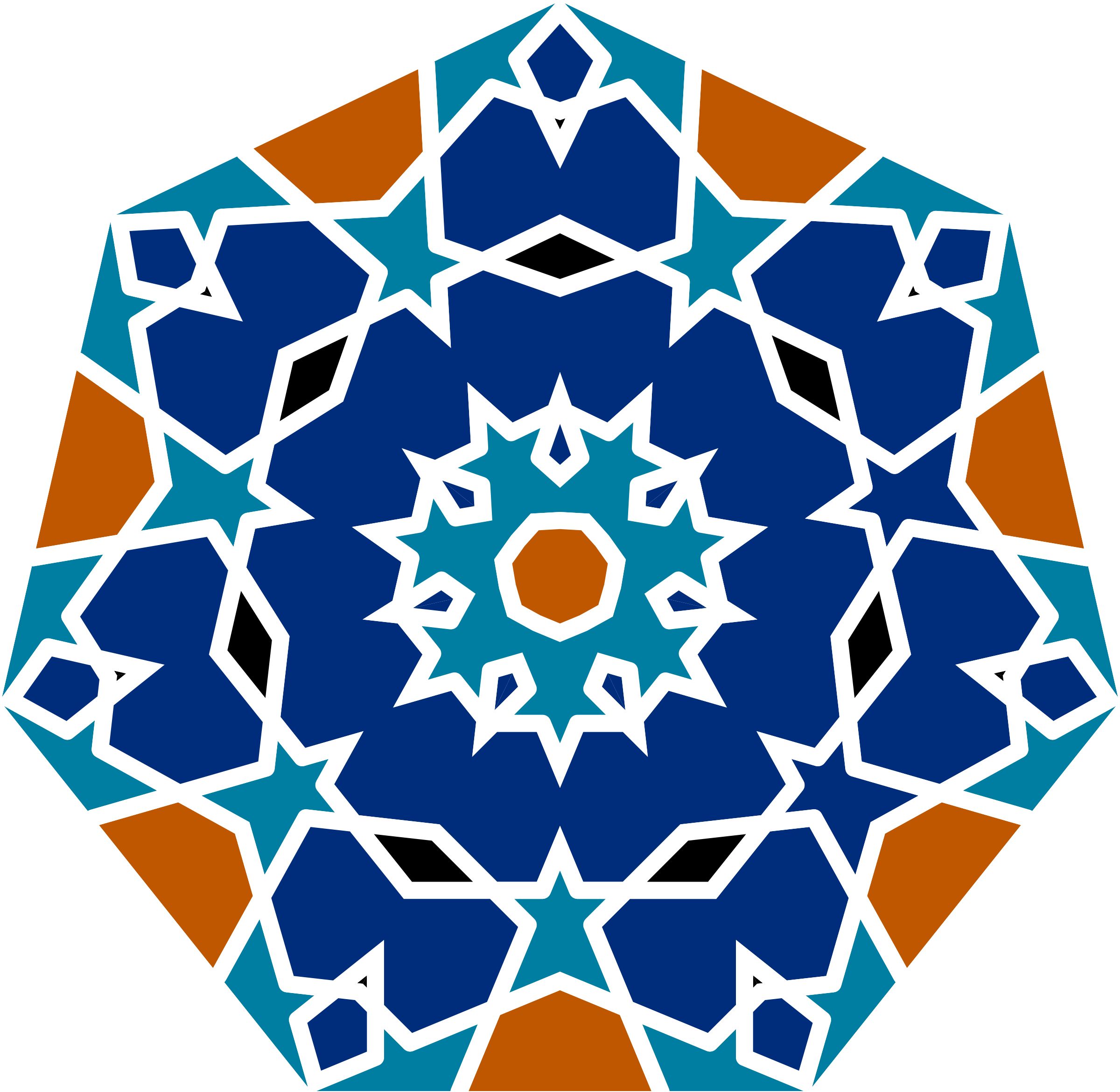 Islamic geometric by gdj. Floor clipart tile design