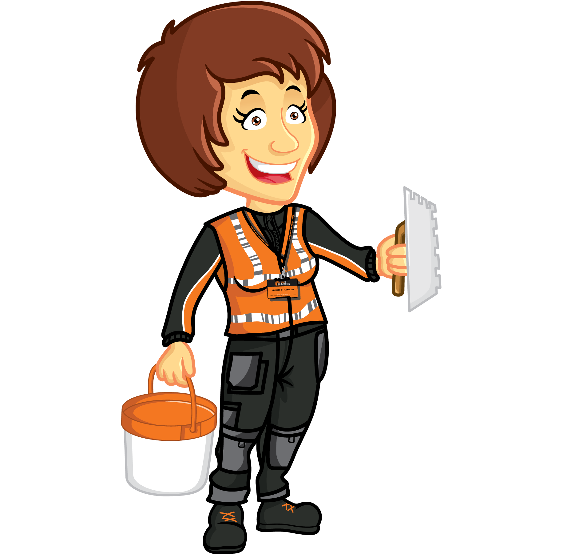 Tiling services trades offers. Floor clipart tile worker