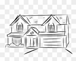 Floor clipart two story house. Free png line drawing