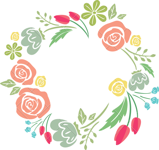 Floral border png.  for free download