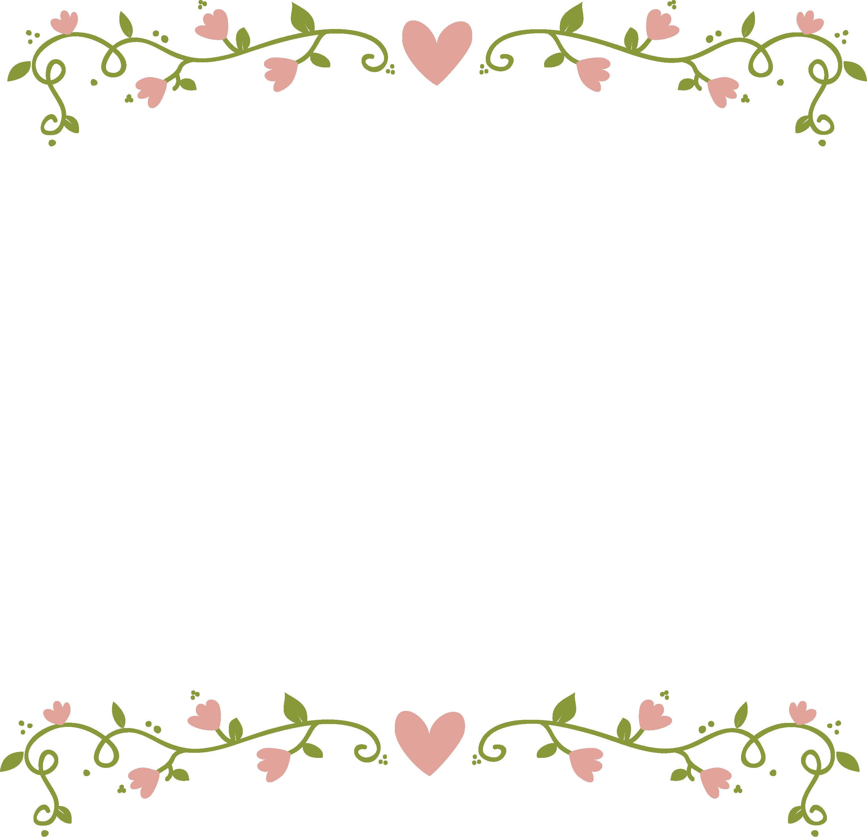 Floral border png. Pink flowers clip art