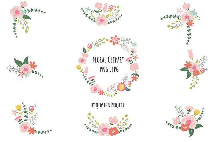 Clipart flowers vintage. Floral wedding invitation images