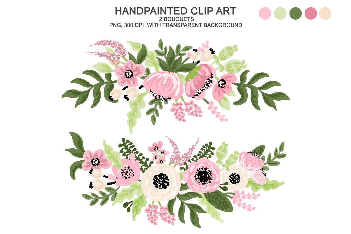 Watercolor . Flower clipart digital