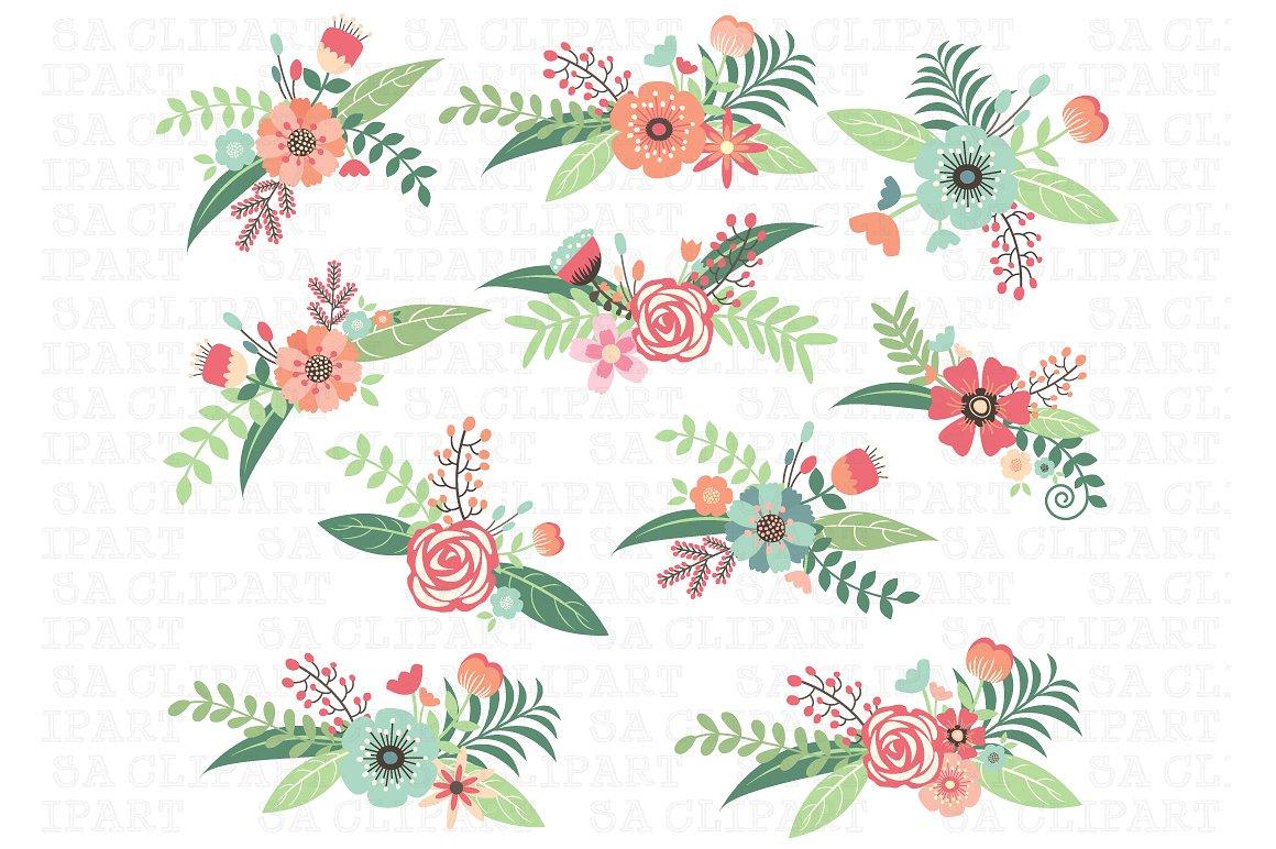 Floral clipart. Wedding illustrations creative market