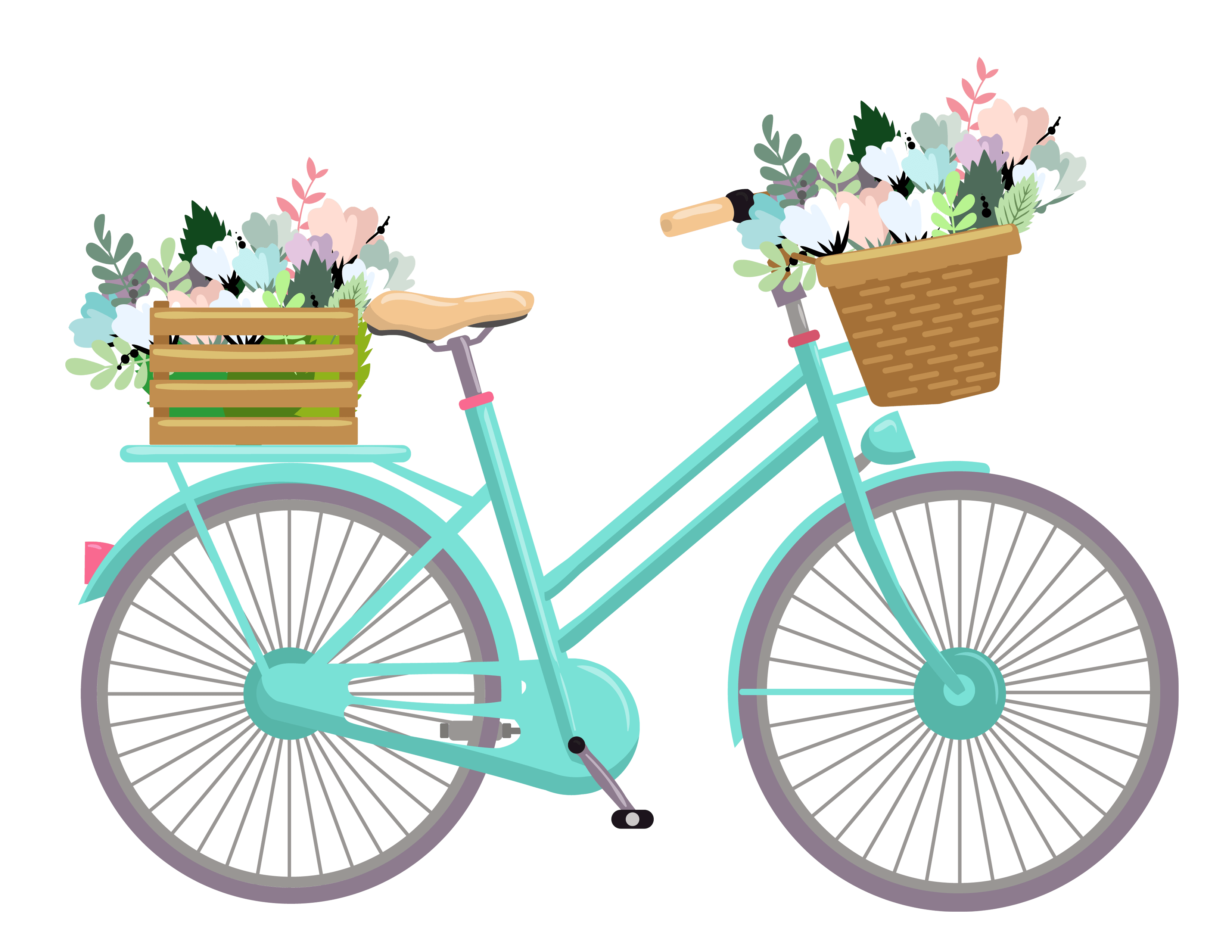 Clipart bike flower. With flowers by erica