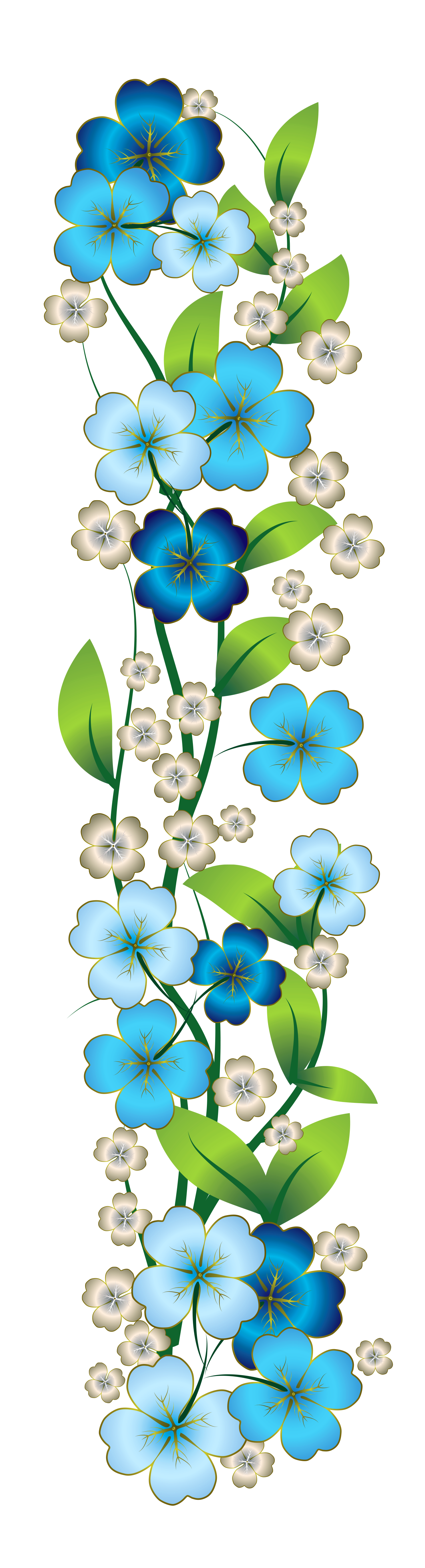 Flutes clipart bansi. Blue flower decor png