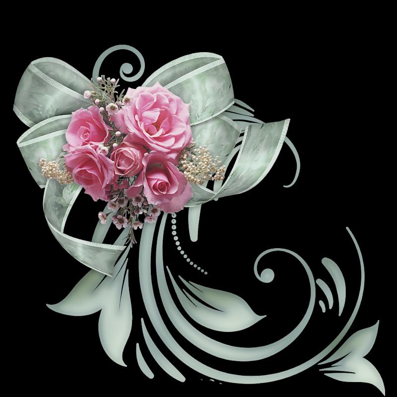 Fleurs page decoupage pinterest. Floral clipart bow